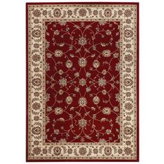Home Decorators Collection Claire Red 9 ft. 2 in. x 11 ft. 11 in. Area Rug