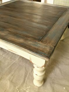 Vintage Furniture dry brush old wood technique, chalk paint, how to, painted furniture - How to dry brush over a dark stain to create a weathered wood look Redo Furniture, Coffee Table, Paint Furniture, Painted Furniture, Diy Furniture, Old Wood, Chalk Paint Furniture, Weathered Wood, Rustic Furniture