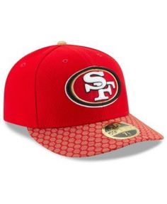 the best attitude 14f75 56c96 New Era San Francisco 49ers Sideline Low Profile 59FIFTY Fitted Cap - Red Gold  7