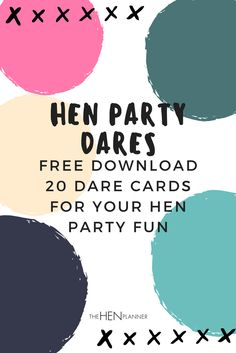 Here is a list of awesome hen party dares for your hens party. Hens party dares are a great way of adding some fun and a touch of hen to the party. Bachelorette Dares, Bachelorette Party Checklist, Hens Night Games, Hen Night Ideas, Hen Games, Hen Party Games, Classy Hen Party, Dare Games, Party Prizes