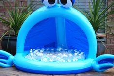 Kids party cooler idea....the baby pool!
