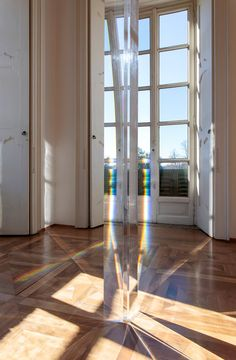 Robert Irwin's untitled acrylic column (2011) that refracts sunlight. Credit Philipp Scholz Rittemann; Robert Irwin/Artists Rights Society (ARS), New York