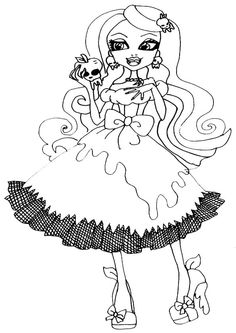monster high coloring pages bonita femur - Google Search ...
