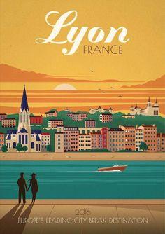 Lyon #TravelEuropeIllustration