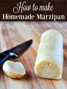 How to make Homemade Marzipan - better flavour, less expensive! How to make Homemade Marzipan - better flavour, less expensive! Now you can make it at home fresh every time you need it; much better than store bought. Baking Recipes, Cookie Recipes, Dessert Recipes, Rock Recipes, Sweet Recipes, Homemade Marzipan Recipe, Almond Paste, British Baking, Cupcakes