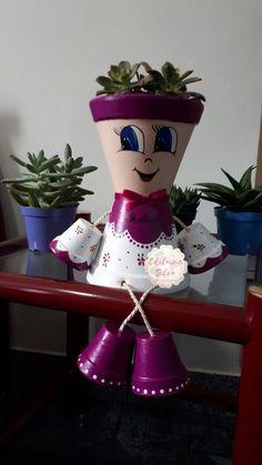 result for dolls of ceramic vases Flower Pot Art, Clay Flower Pots, Flower Pot Crafts, Clay Pots, Clay Pot Projects, Clay Pot Crafts, Crafts To Do, Flower Pot People, Clay Pot People