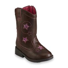 d2651c946 Bongo Toddler Girl's Ginger Brown/Pink Mid-Calf Western Boot Western Boots,  Cowboy