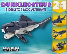 Deep Sea Creatures, Apex Predator, Oceans Of The World, Group Of Companies, Lego Parts, Lego Moc, New Series, Lego City, Prehistoric