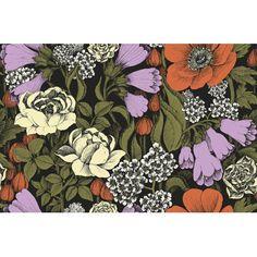 "Marimekko Volume 4 Oodi 33' x 21"" Floral and Botaincal Wallpaper Color: Cream/Poppy Orange/Foliage/Black"