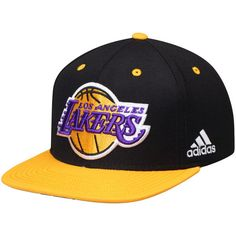 033e4040bdcf0 Los Angeles Lakers adidas On-Court Adjustable Snapback Hat - Black Gold -   27.99