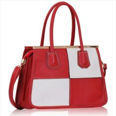 MULTICOLOURED HANDBAG Shades Of Red, Leather Fashion, Designer Handbags, Fashion Top, Tote Bag, Shoulder, Lady, Handle