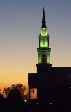 Raley Chapel At Night Oklahoma Baptist University Laramie Batey Photography Bison Hill