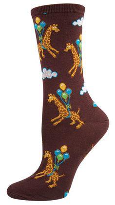 Women's Novelty Crew Socks – Up Up Away Design Cotton Blend & Nylon - Underwear Silly Socks, Funky Socks, Crazy Socks, Cute Socks, Happy Socks, My Socks, Nylon Underwear, Cute Underwear, Unique Socks