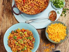 photograph of the healthy chili mac n cheese recipe