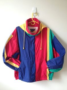 vintage 80s 90s nautica color block jacket with by vintspiration, $32.00