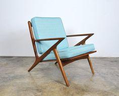 $750 Danish Modern Z Lounge Chair Poul Jensen for Selig Style Mid-Century Vintage Teak Armchair Retro 1960s