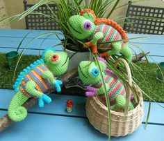 Camelia the chameleon and her friends.