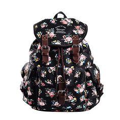 Beautiful Black Roses Floral Rucksack Backpack Best Backpacks For School, Cute Mini Backpacks, Trendy Backpacks, Girl Backpacks, Jansport Superbreak Backpack, Rucksack Backpack, Canvas Backpack, Nylons, Floral Backpack