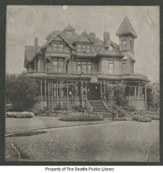 Fourth home of the Seattle Public Library 1899-1901 Henry L Yesler mansion Third Ave and James St