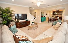 Gorgeous open living room in the Brio model home in Mill Creek at Kendall Town #Lennar #DreamHome