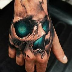 Hand tattoos for men are bold and rebellious. Because hand tattoos are very visible and painful, think twice if you plan on a professional career; otherwise, pick a tattoo design or idea that you love and find amazing! For example, the best hand tattoo de
