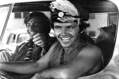 Young Jack Nicholson Riding in Car