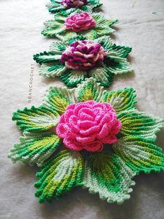 Best 12 brazilian embroidery for beginners – SkillOfKing. Crochet Flower Tutorial, Crochet Flower Patterns, Crochet Flowers, Crochet Ripple Blanket, Crochet Bedspread, Spiral Crochet, Crochet Leaves, Crochet Basics, Crochet Stitches
