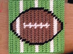 Football Coasters by jennifersgoodies1 on Etsy, $9.00