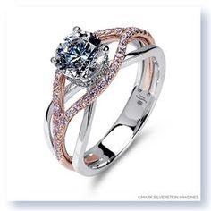 Shop online MARK SILVERSTEIN 2037V2-18KWR-WPD Split Shank 18K - Rose Gold Diamond Engagement Ring at Arthur's Jewelers. Free Shipping