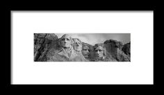 Usa, South Dakota, Mount Rushmore, Low Framed Print By Panoramic Images