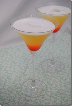 "Martini Monday: The Bikini Martini Looks like candy corn martini to me.  www.LiquorList.com ""The Marketplace for Adults with Taste!"" @LiquorListcom   #LiquorList.com"