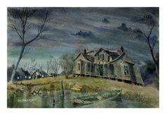 Phantom of Bayou des Mortes, haunted painting by Lewis Barrett Lehrman
