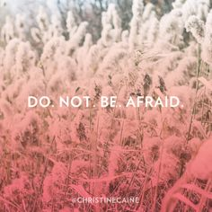 Do. Not. Be. Afraid. Christine Caine, What About Tomorrow, Take Heart, Therapeutic Grade Essential Oils, Coping Mechanisms, Powerful Words, Love Words, Deep Thoughts, Savior