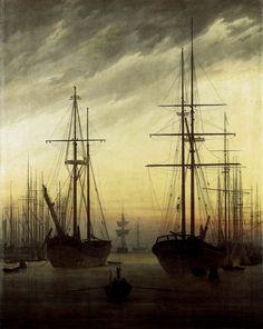 View of a Harbour by Caspar David Friedrich 1815