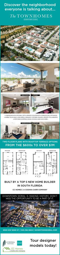 Check out The Townhomes of Downtown Doral. These townhomes are selling fast.