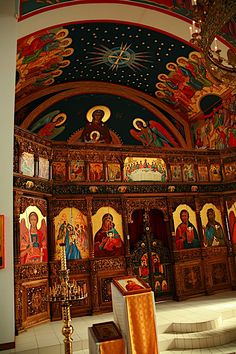 Yr 2 Middle Ages study of Byzantium - church Iconography by theophanypics admin