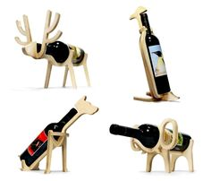 Animals' bones wijnrek by Choi Jinyoung Cnc Projects, Woodworking Projects, Woodworking Plans, 3d Puzzel, 3d Laser Printer, Cnc Wood, Plywood, Unique Gifts For Men, Wine Bottle Holders