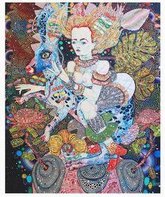 Del Kathryn Barton Silk Scarf - Gallery Store