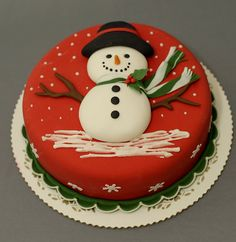 Snowman cake for my daughter's Birthday.