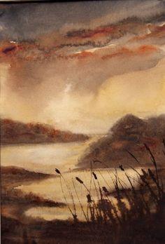 """Marsh Light II"" - Original Fine Art for Sale - © Jean Lurssen"