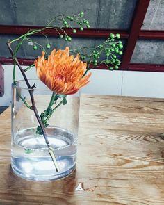 Blue Bottle, Flower Arrangements, Glass Vase, Display, Flowers, Room, Home Decor, Floor Space, Bedroom