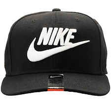 NIKE FUTURA TRUE 2 SNAPBACK HAT MENS 584169-010 Black White Logo Adjustable Cap