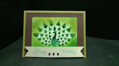 Brusho & Cricut Birthday Card