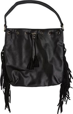 Vegan leather fringe bag. http://www.swell.com/Womens-Accessories/ONEILL-MELINA-FRINGE-FAUX-LEATHER-BAG?cs=BL