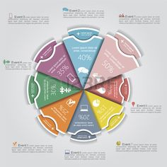 #Business #Infographic Template to spice up your presentation! Plus it's colorful!