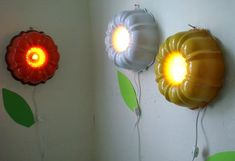 Repurposing old cake molds into wall lamps or light fixtures