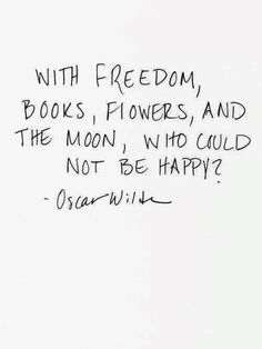 Freedom, books, flowers & the moon