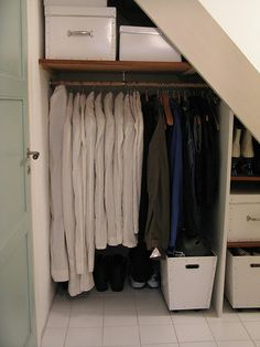 under-stair closet storage