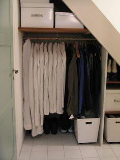 under-stair closet storage