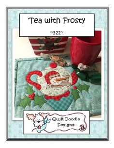"""Mr 5 1//2"""" X 7 1//2"""" Frost Laser Cut Mug Rug Kit X Stitches of Love Quilting"""